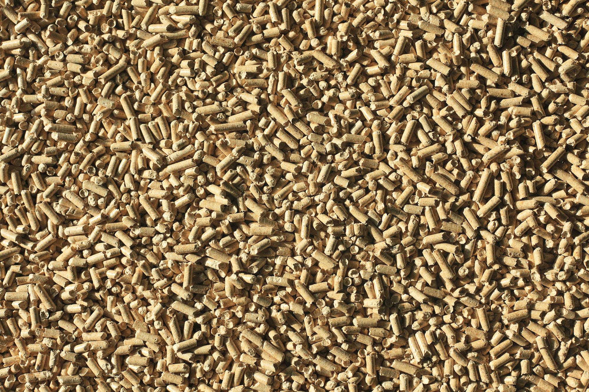 wooden pellets background